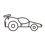 Car two - Easy coloring cars