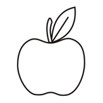 Apple - Easy coloring fruits