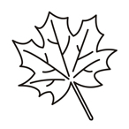 easy coloring leafs