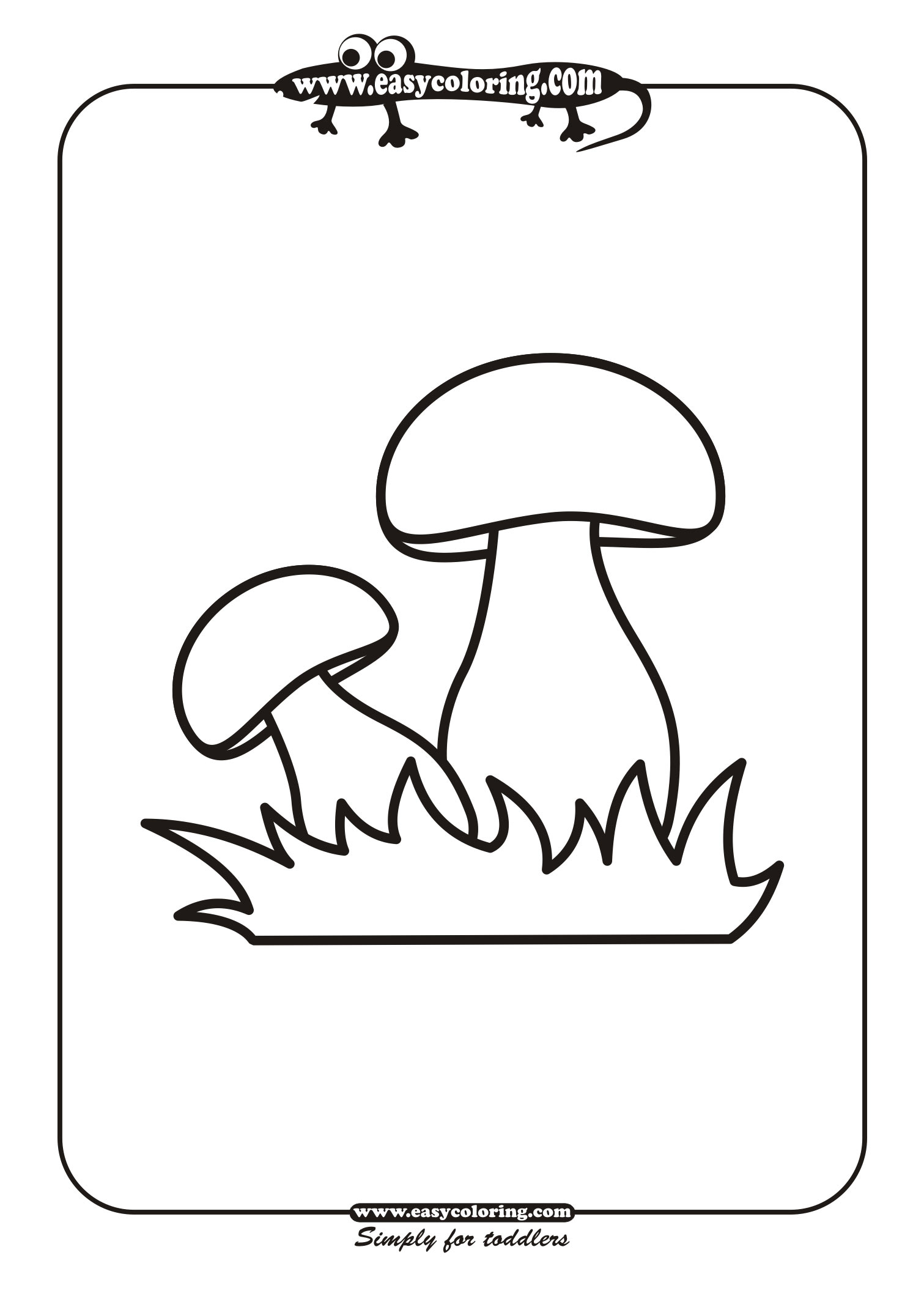 Распечатать грибы для раскраски